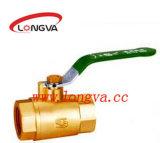 Válvula de bola de bronce de alta calidad
