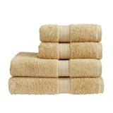 ロゴの100%年の綿のテリー布の平野の白い浴室タオル