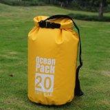 Sacchetto asciutto esterno della tela incatramata 100L Drybag 20L 30L di nuoto del PVC di marchio del pacchetto impermeabile su ordinazione dell'oceano piccolo impermeabile