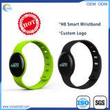 Wristband Bluetooth отслежывателя пригодности франтовской при напечатанный логос