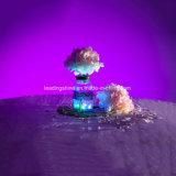 다색 방수 작은 당 훈장 꽃 모양을%s 건전지에 의하여 운영하는 마이크로 소형 LED 잠수할 수 있는 빛