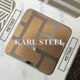304 feuille gravée en relief par couleur d'argent d'acier inoxydable Kem003