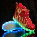 Het populairste LEIDENE van het Patroon van de Brand Licht op LEIDENE van Jonge geitjes de Schoenen Aangepaste Schoenen van de Verlichting