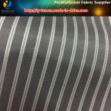 Poliéster Negro raya de la manga de la guarnición de la ropa / del traje (S21.22)