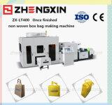 Sac stéréo non tissé de tissu faisant la machine avec la qualité (ZX-LT400)