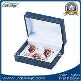 우단 상자에 있는 고품질 금속 동점 클립 금속 커프스 단추