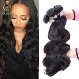 Тип цвет выдвижения волос свободно образцов бразильский объемной волны естественный черный