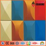 Feuille enduite de mur de couleur décorative de revêtement (AE-108)