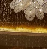 Éclairage luxueux de plafond de Phine avec le cristal pour l'hôtel et le restaurant