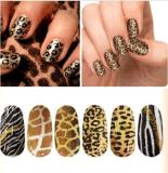 Стикер ногтя стикеров искусствоа ногтя переноса воды змейки тигра леопарда