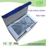 Máscara protetora ativa cirúrgica descartável de carbono 4-Ply em casa
