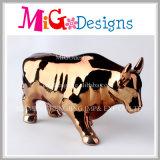 Batería de cerámica encantadora del dinero de Bull con el electrochapado