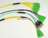 LC, Sc, FC, St, MU, MTRJ, MU, MPO, Odva, Fullaxs, ligação em ponte de Patchcord da fibra óptica, ligação da correção de programa da fibra óptica, cabo da correção de programa da fibra óptica