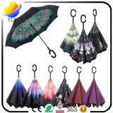Des ventes élevées est empêchées se dorent dans le parapluie UV de protection de parapluie noir