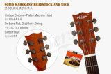 Гитара твердого верхнего Mahogany тела Cutway шара 40 дюймов акустическая