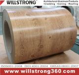 木製の穀物パターンが付いている前に上塗を施してあるアルミニウムコイル