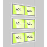 Kits ligeros del panel del LED para el sistema de visualización colgante del agente inmobiliario