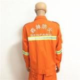 Workwear 100% della tuta del cotone degli uomini con nastro adesivo riflettente