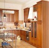 Gabinete de cozinha americano da madeira contínua (noz)