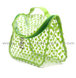 El bolso transparente del maquillaje del PVC de la limpieza fácil ahueca hacia fuera el bolso claro del cosmético del fieltro