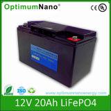 Bateria recarregável do UPS do bloco 12V 20ah da bateria LiFePO4 com BMS