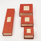 Kunstdruckpapier-überzogenes Papier-Halsketten-Ring-Ohrring-Kasten (J10-E1)