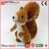 Les jouets animaux mous de qualité ont bourré l'écureuil de Brown