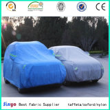 UV Protegido 100% poliéster tafetán coche cubierta de tela con impermeable