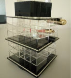 Organizador claro del lápiz labial de Makup, torres del lápiz labial