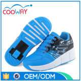 El fabricante de zapatos del rodillo de las ruedas de China LED enciende para arriba los zapatos de la rueda del patín de ruedas