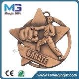 Medalha personalizada relativa à promoção do esporte do metal das vendas quentes