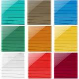 Mur insonorisé Lexan de PC double coloré couvrir la feuille de polycarbonate