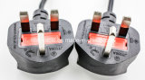 Surtidor BRITÁNICO del cable de fuente de alimentación del divisor de la potencia de la cuerda de extensión de la potencia