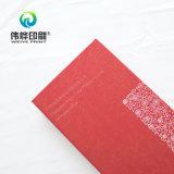 Calendário de dobramento com cor vermelha