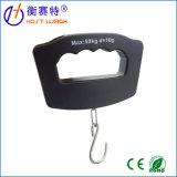 Schwarzer Fisch-Haken LED-Digital, der elektronische Gewichtung-Gepäck-Schuppen hängt