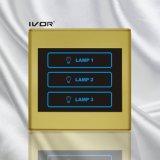 Marco plástico del interruptor del tacto de iluminación de 3 cuadrillas (SK-T2300L3)