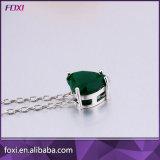 シンプルな設計の方法金によってめっきされるCZの宝石類のペンダントのネックレス