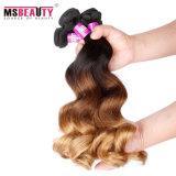 O cabelo humano do Virgin brasileiro de Ombre do cabelo de Msbeauty afrouxa a onda