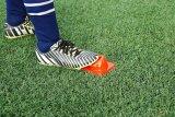 El balompié del fútbol se divierte el cono del entrenamiento