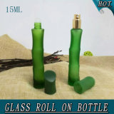 15ml Green Bamboo Shape Serum Essential Oil Glass Roll on Bottle