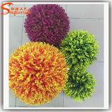 ホーム装飾の実質の接触人工的な草の球