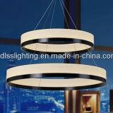 De moderne Acryl Ronde LEIDENE Lamp van de Tegenhanger