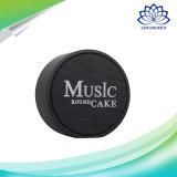 Cadre sans fil portatif de haut-parleur de Bluetooth de gâteau rond de musique