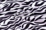 Polyester-Flanell/korallenrote Vlies-Zudecke - Zebra-Streifen