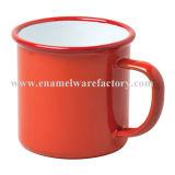Tasse campante de l'eau de tasse de tasse en gros d'émail pour la vie quotidienne