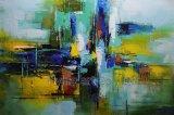 Reproduction abstraite de peinture à l'huile avec de l'acrylique