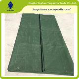 Geteerde zeildoek van het Canvas van de Producten van de Kwaliteit van Hight het Blauwe/Groene die in de Fabriek In het groot Tarp wordt gemaakt van China