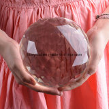 Grosses Size 150mm Crystal Glass Clear Faceted Ball