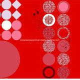 100%Polyester Rosa geométrica Pigment&Disperse imprimiu a tela para o jogo do fundamento
