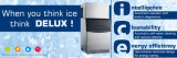 Máquina comercial do fabricante de gelo de Topest com aço inoxidável 230kg